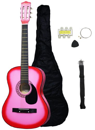 "Beginner 38"" Pink Acoustic Guitar"