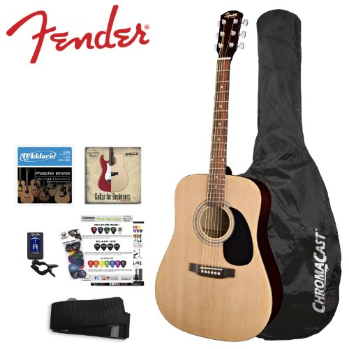 fender squier acoustic guitar bundle natural. Black Bedroom Furniture Sets. Home Design Ideas